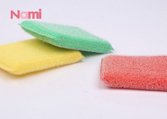 Household Heavy Duty Scouring Pad Sponge Anti - Bacterial Strong Decontamination