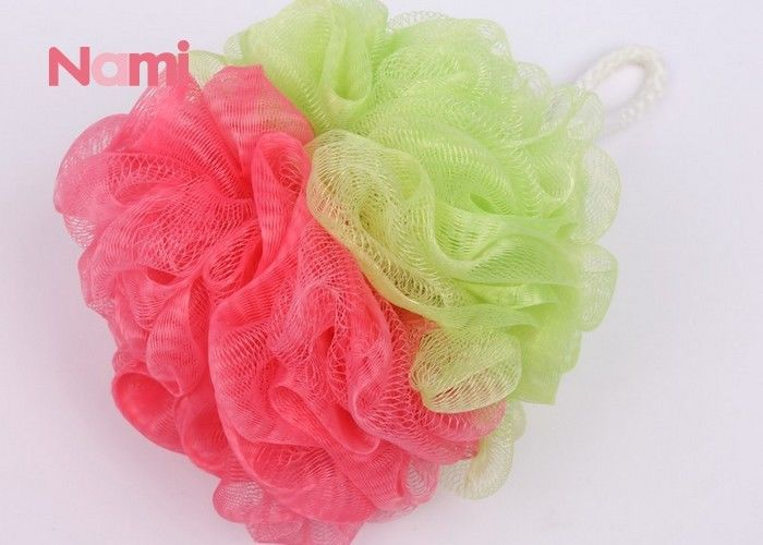 Mesh Pouf Plastic Bath Sponge Body Cleaning Two Color Mildew - Proof