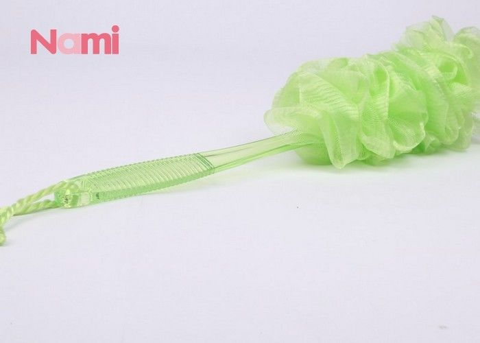 Long Handled Exfoliating Bath Sponge Soft / Comfortable Logo Printing
