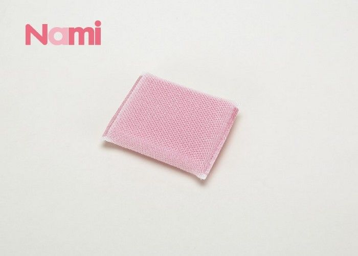 Abrasive Steel Wool Scouring Pad Sponge Pink Color With Customized Logo