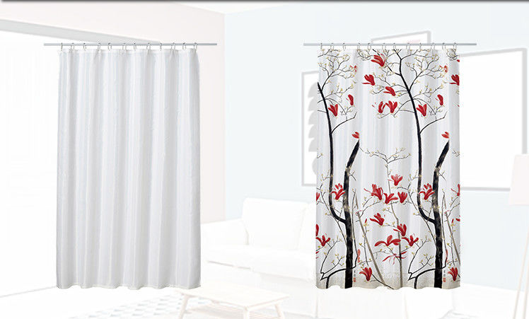 Colorful Custom Hotel Shower Curtain , Mildew Resistant Peva Shower Curtain