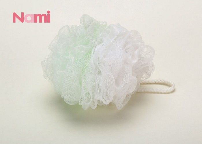 Customized Color Shower Scrub Ball , Exfoliating Body Sponge Fresh PE Material