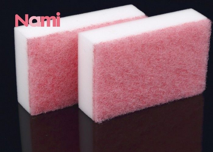 Durable Magic Clean Eraser Sponge Scouring Pad Polyester / Polyamide Material